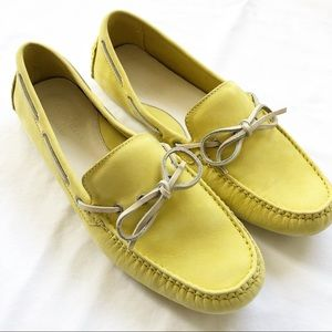 Cole Haan Nike Air Yellow Driving Loafers Size 9
